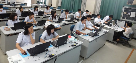 模擬授業@豊橋西高等学校(2014/07/02)