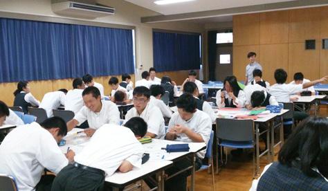 三ケ日高校・デザイン系講義・演習(2014/09/09)