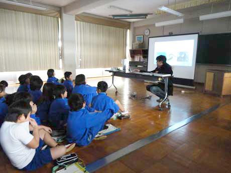 中野ゼミプロジェクト・三谷東小学校の模擬授業(2014/11/18)