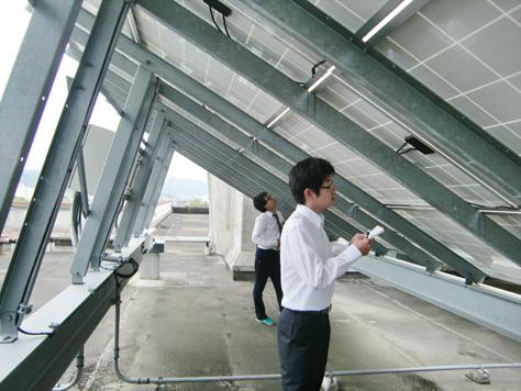 豊橋エコタウン・プロジェクト 小中学校の太陽光発電システムの稼働状況調査を本格的に開始!(見目プロジェクト)
