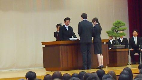 入学生代表宣誓