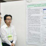 東海支部連合大会で発表する経営学科4年金原君(2016/09/13)