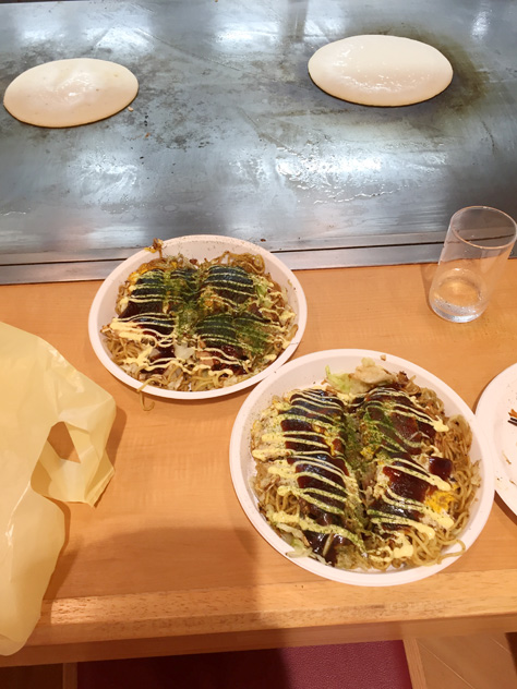 創造祭準備-広島風お好み焼き作り方講習を受講しました
